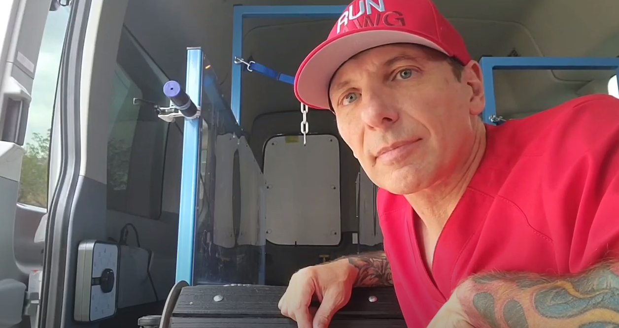 How a mobile dog exercise van works